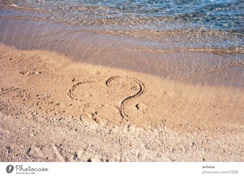 my heart for you Meer Strand Ferien & Urlaub & Reisen Liebe Herz