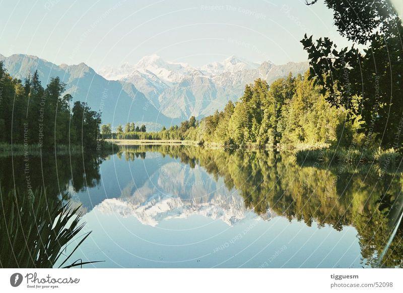 Naturspiegel Berge u. Gebirge Spiegel Neuseeland Gebirgssee Lake Matheson