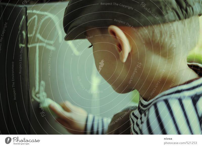 Alienmalerei Freizeit & Hobby Kinderspiel maskulin Junge Kindheit Kopf Ohr Hand 1 Mensch 3-8 Jahre Kunst Maler Gemälde Wiese Platz Mauer Wand Terrasse Pullover
