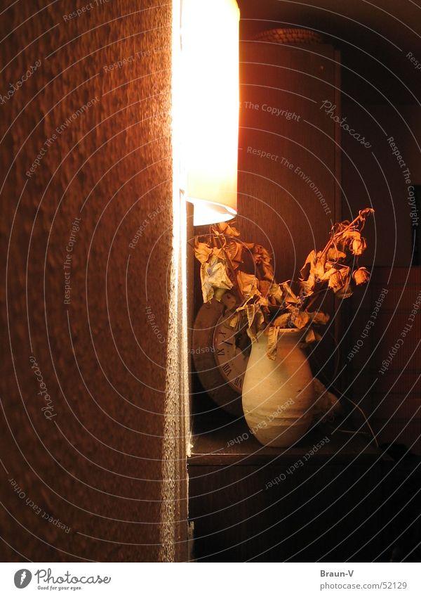 12 vor Uhr Licht Blume Vase Lampe Korb Schatten Kasten Wärme