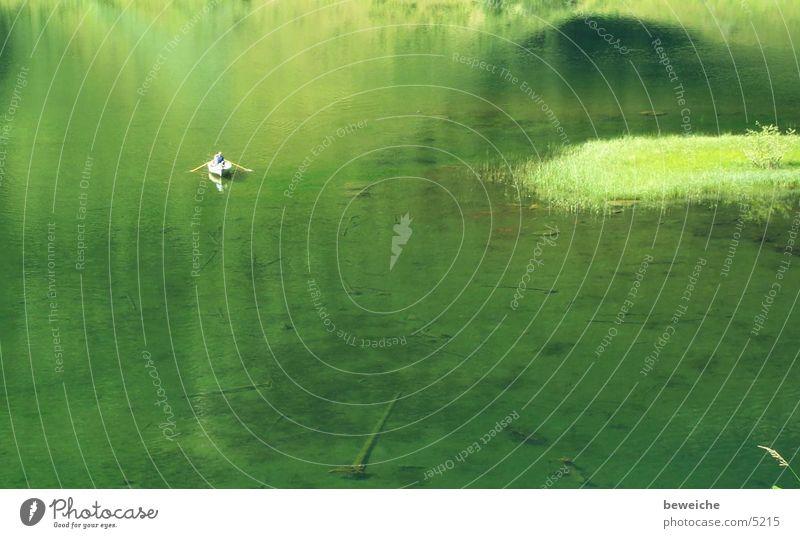 auf einer versunkenen Welt grün ruhig Erholung See Wasserfahrzeug