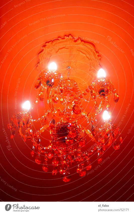 rot Farbe Kerze Decke Glühbirne Kronleuchter Stuck Acryl