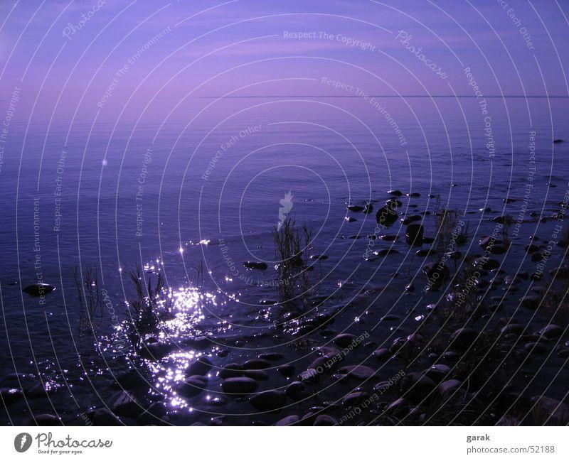 Tag.am.See.1 Gewässer ruhig Erholung träumen Schweden Natur Wasser reflektion Stein blau