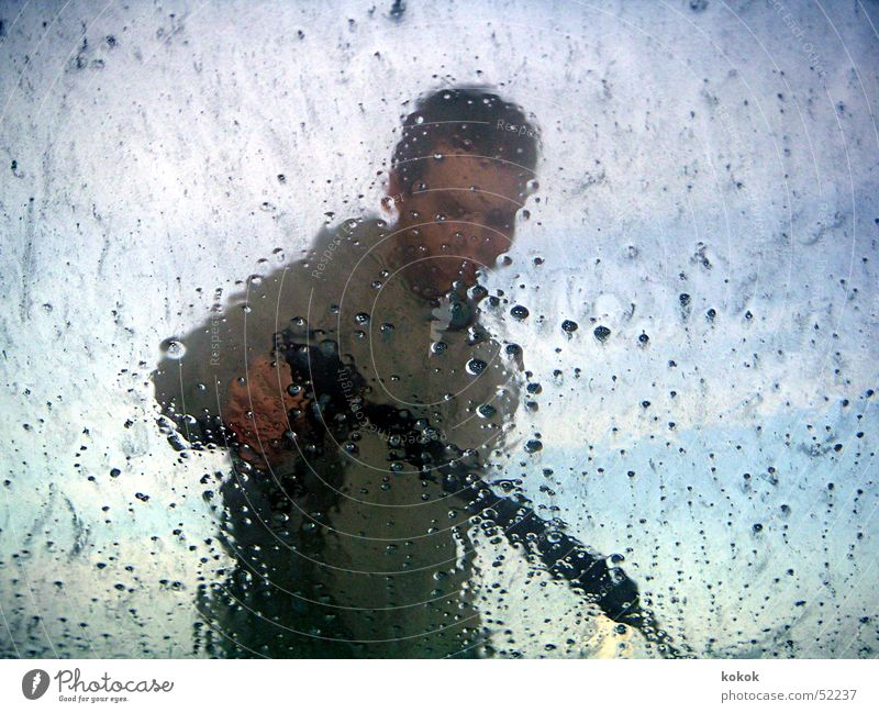 Linsenputzer Mann Wasser Himmel Fenster Sauberkeit Reinigen Fensterscheibe Schaum Autowaschanlage Autowäsche