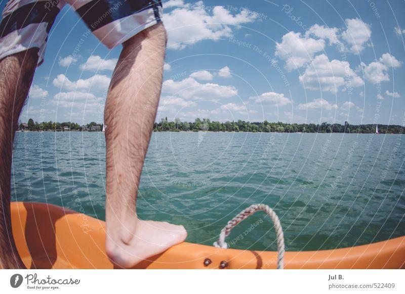 Ab ins Wasser Mensch Natur Jugendliche Landschaft Freude Junger Mann 18-30 Jahre Erwachsene See maskulin gut