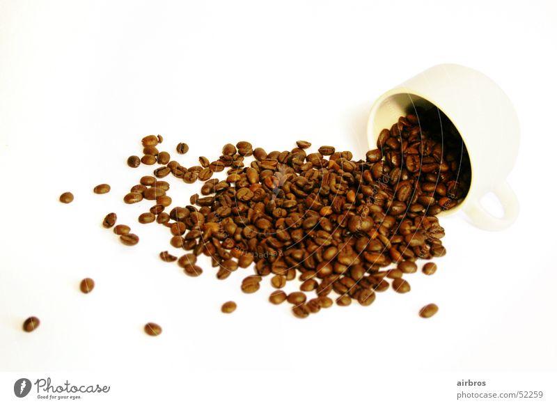Kaffeebohnen weiß hell braun Café Tasse Espresso Bohnen Cappuccino