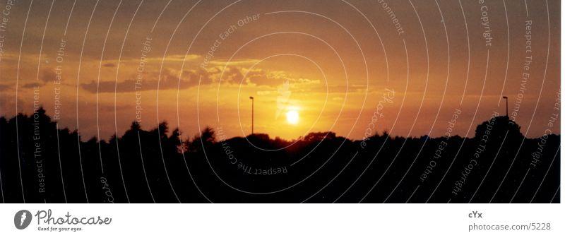 sunset zum xten Sonne Horizont