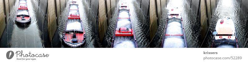 Maasschifffahrt Maastricht Schleuse Wasserfahrzeug See Meer Dampfschiff Niederlande Belgien Wellen Hafen Fluss