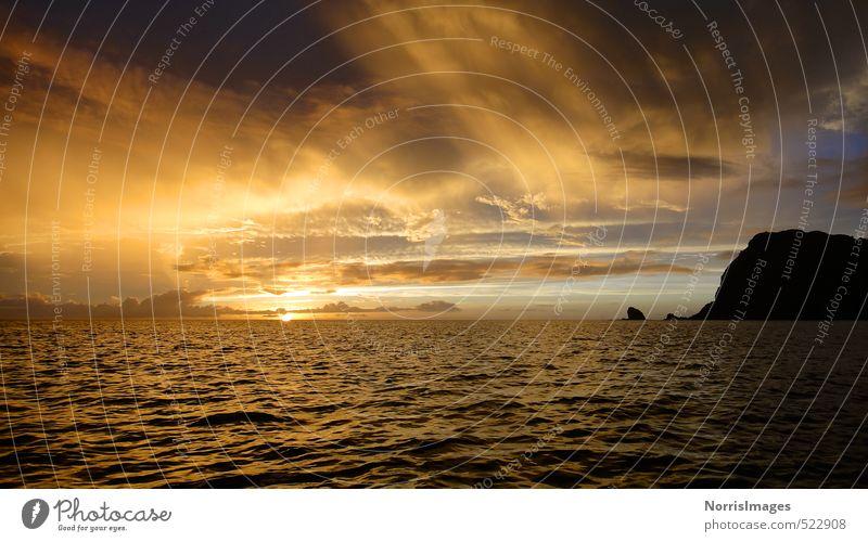 Ogasawara Sunset Umwelt Natur Landschaft Wasser Himmel Wolken Horizont Sonne Sonnenaufgang Sonnenuntergang Wellen Meer Insel Stimmung Warmherzigkeit Romantik