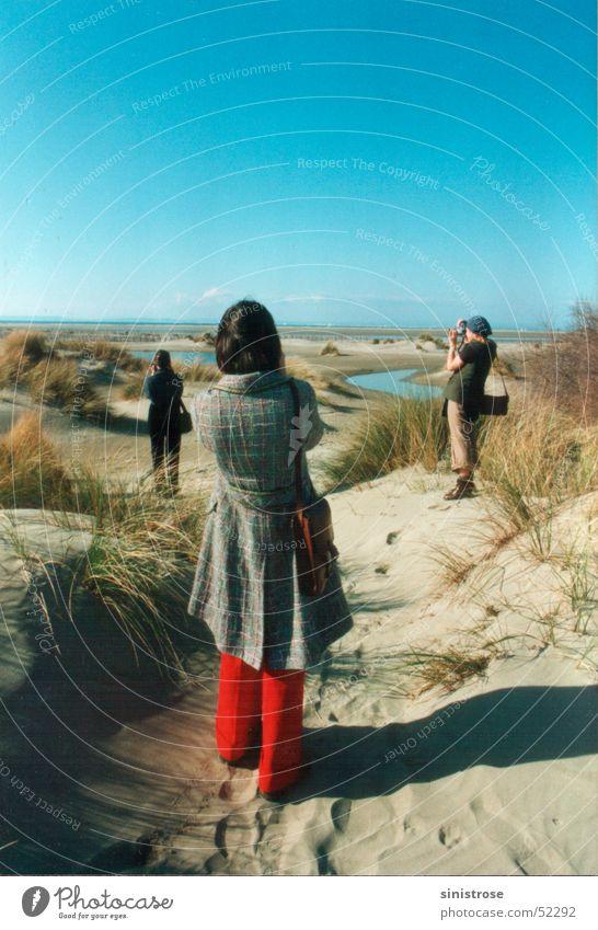 fotos!fotos! Strand Frankreich Meer Fotografie Tourist Ferien & Urlaub & Reisen Küste Frau Raum Sonne Stranddüne