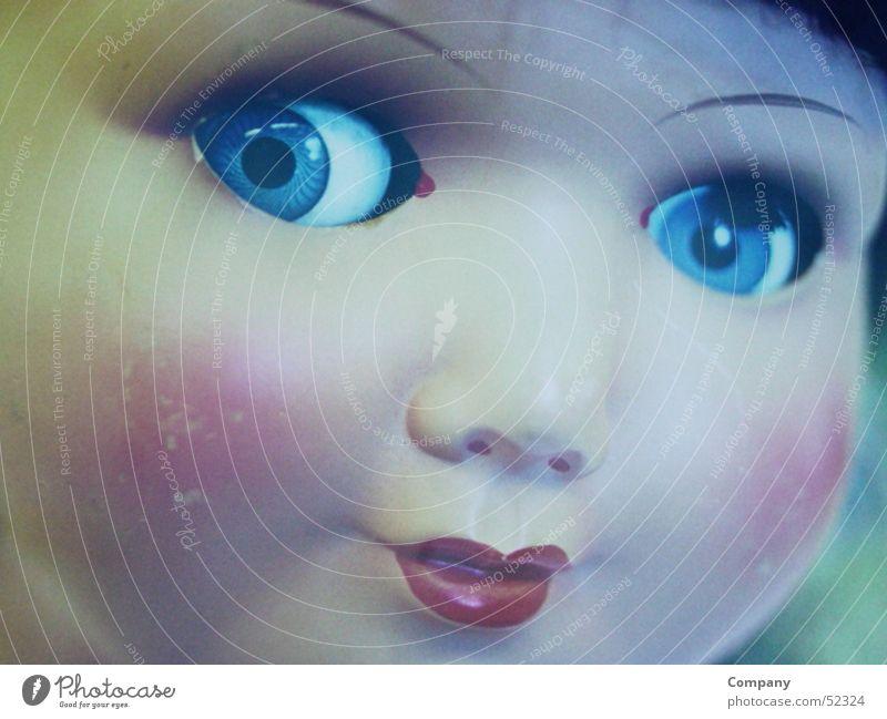 Püppchen Gesicht Auge Lippen Schminke Puppe Wange