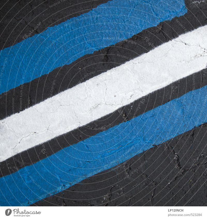swBLUE. XXXXXIX blau Stadt weiß schwarz Umwelt Straße Bewegung Wege & Pfade Kunst Schilder & Markierungen Design Hinweisschild Streifen retro Zeichen fahren