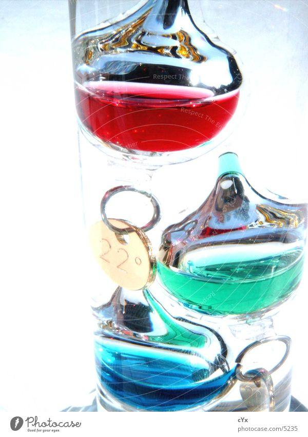 Is warm? kalt heiß mehrfarbig Stil Grad Celsius Dinge galileo galilei Thermometer Glas Flüssigkeit Wasser hell