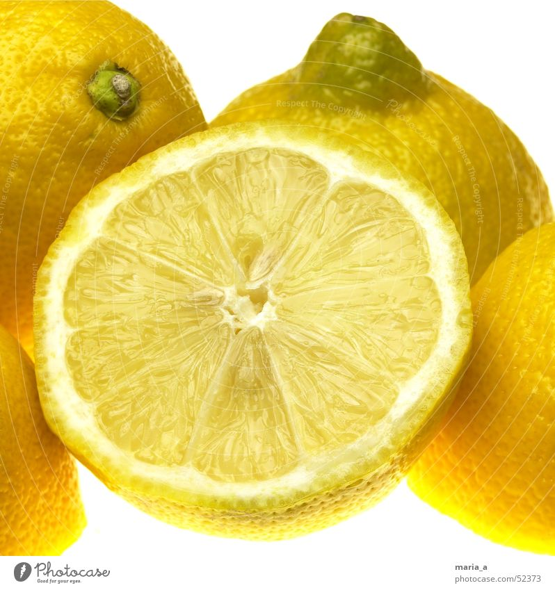 Zitronen gelb Gesundheit lustig Frucht Wut Vitamin Kerne saftig fruchtig Vitamin C