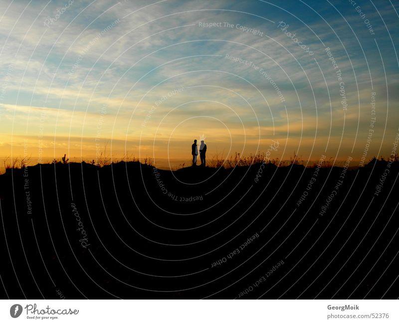 sunset Frau Himmel Mann Winter Einsamkeit Liebe Glück Traurigkeit Paar Freundschaft 2 Horizont Zusammensein paarweise Trauer Skyline