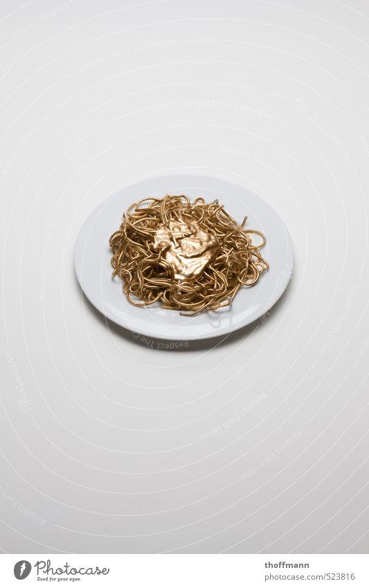 Golden Food Gesunde Ernährung Denken Essen Lebensmittel Speise gold Foodfotografie Bioprodukte Teller Mahlzeit Biologische Landwirtschaft Nudeln Verantwortung