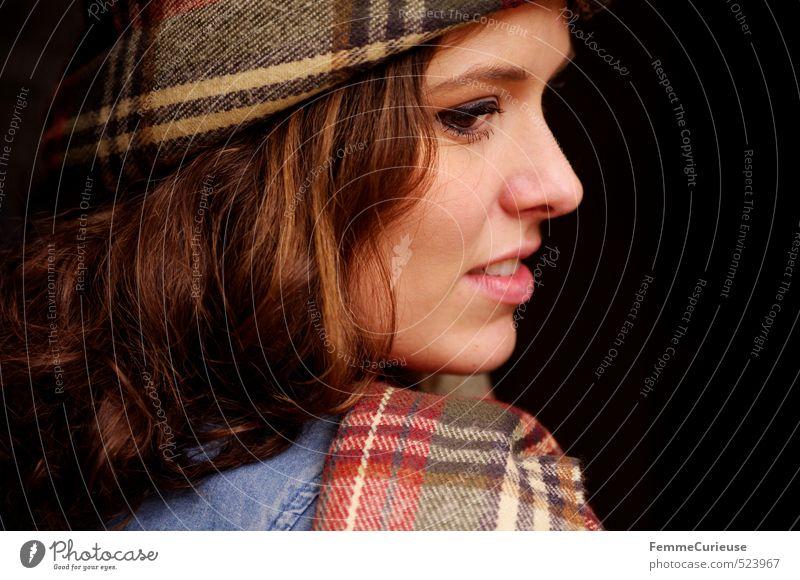 Autumnal Woman (XI). Mensch Frau Kind Natur Jugendliche schön Junge Frau 18-30 Jahre Erwachsene feminin Haare & Frisuren Stil Mode offen elegant Lifestyle