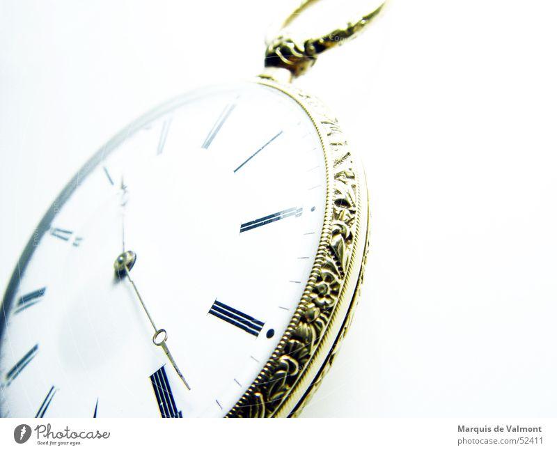 Zeitgeist alt gold Uhr Dekoration & Verzierung Ziffern & Zahlen analog historisch Ornament Skala Mechanik Roman Antiquität Uhrenzeiger Zifferblatt