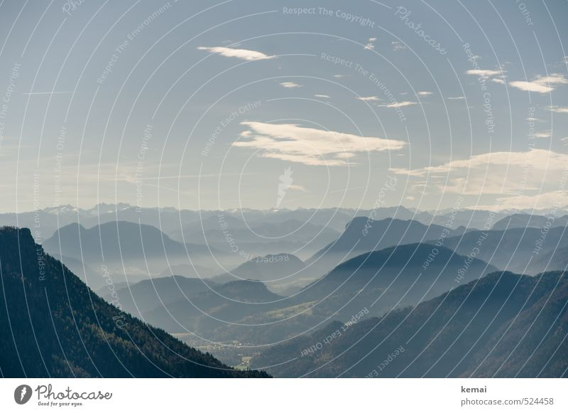 Zwei-Gipfel-Tour | Wasserwandblick Umwelt Natur Landschaft Pflanze Himmel Wolken Sonnenlicht Herbst Schönes Wetter Nebel Wald Hügel Alpen Berge u. Gebirge