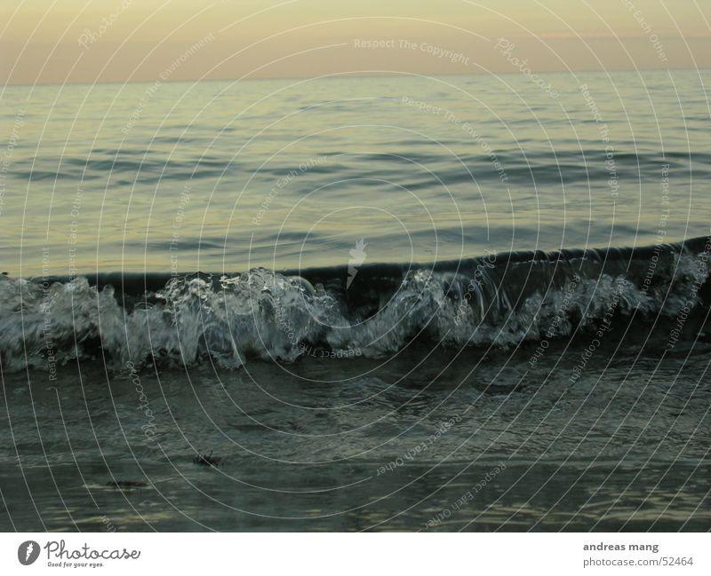 Miniatur Welle Wasser Meer Strand Ferne See Wellen Ostsee Teich