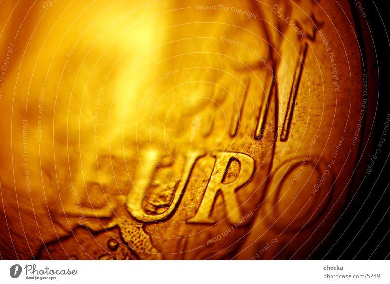 EuroMakro Kapitalwirtschaft Medaille Kasse Geldmünzen Europa Börse Dinge Makroaufnahme Geldinstitut money moneten cash teuro currency kleingeld change