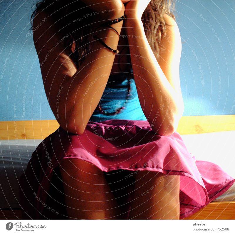 waiting... blau Haare & Frisuren Bett violett türkis Armband