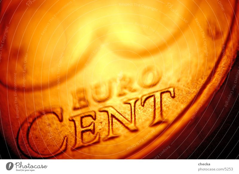 EuroCent Geldmünzen Kapitalwirtschaft Börse Dinge Makroaufnahme Geldinstitut