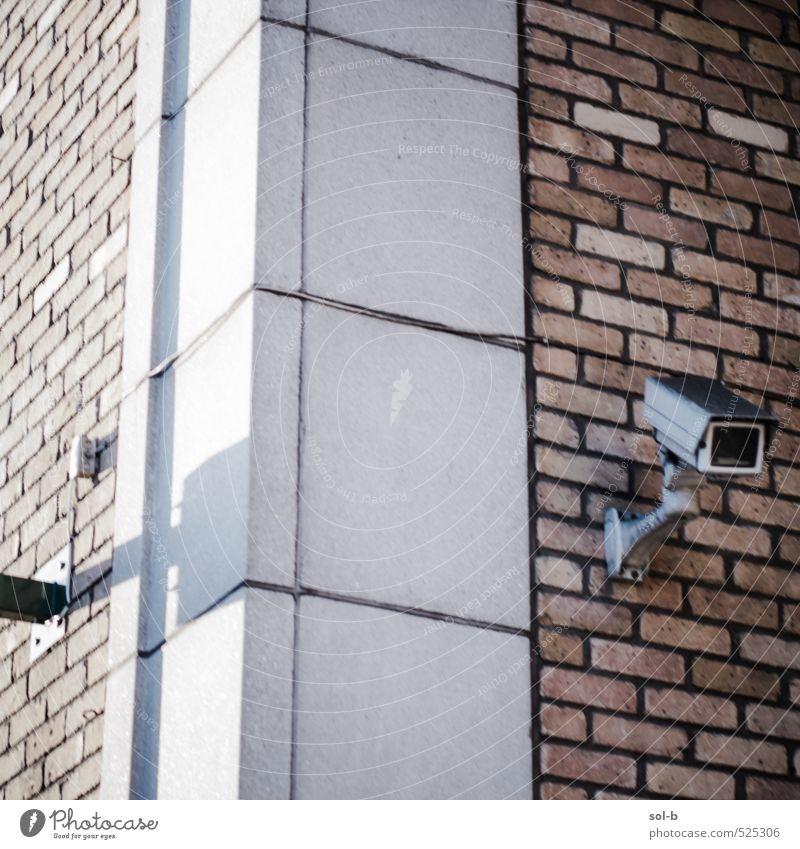 Stadt dunkel Wand Mauer Architektur Gebäude Arbeit & Erwerbstätigkeit Business Angst Wohnung Häusliches Leben Technik & Technologie Ecke Sicherheit Schutz