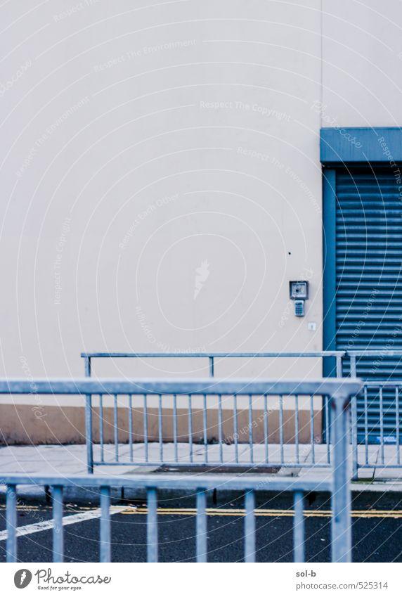 Stadt Wand Straße Mauer Architektur Gebäude Arbeit & Erwerbstätigkeit Häusliches Leben geschlossen ästhetisch Sicherheit Schutz Barriere Stadtzentrum Ruhestand Arbeitsplatz