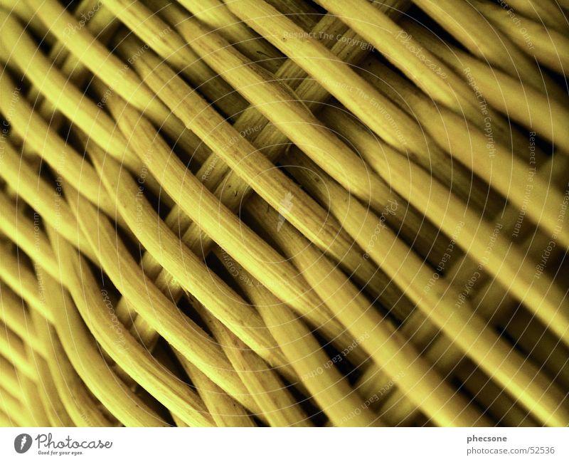 Basketwork gelb Stuhl Sofa Möbel Sitzgelegenheit Korb