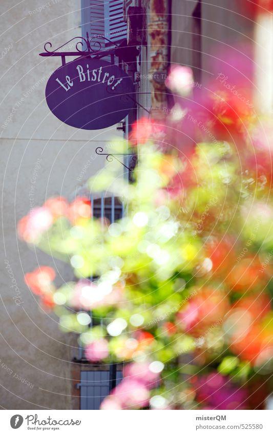 French Style XXIV Kunst ästhetisch Zufriedenheit Frankreich Provence Straßencafé Werbung Schilder & Markierungen Blume Blumenkasten Romantik Restaurant Bar