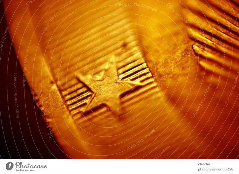 Eurostar Geldmünzen Europa Dinge Stern (Symbol) Makroaufnahme