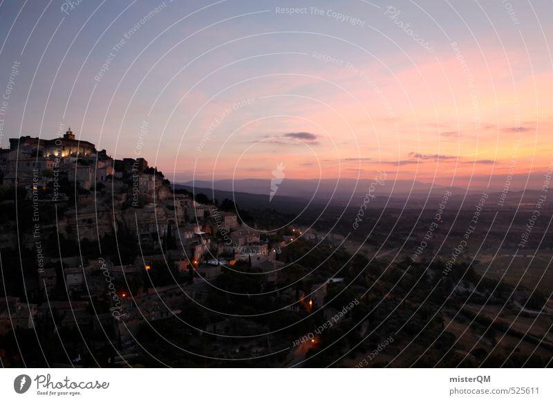 French Style XXVII Himmel Ferien & Urlaub & Reisen Himmel (Jenseits) Landschaft Ferne Berge u. Gebirge Kunst Zufriedenheit ästhetisch Romantik historisch