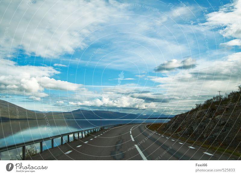 der Weg ist das Ziel... Ferien & Urlaub & Reisen blau Pflanze Sommer Wasser weiß Erholung Meer Landschaft Tier Ferne kalt Berge u. Gebirge Straße natürlich