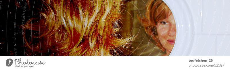 Blick Frau Auge Haare & Frisuren Spiegel Selbsterkenntnis