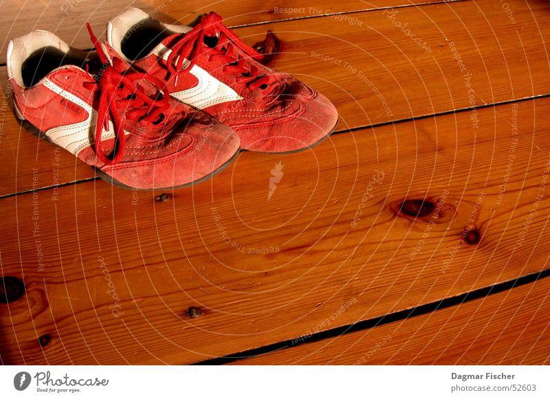 Leisetreter weiß rot Sonne Farbe Sport Spielen Holz Mode Raum Schuhe Wohnung Freizeit & Hobby Bodenbelag Coolness trendy Turnschuh