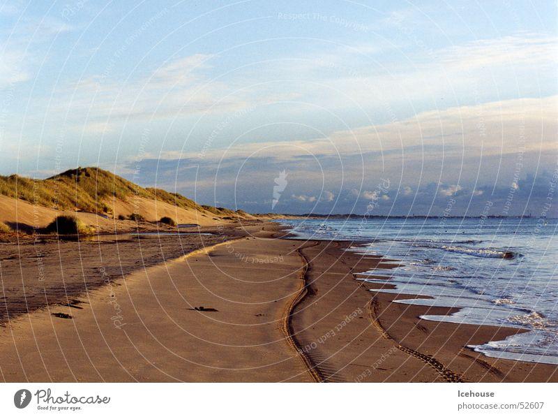 Morgenstimmung am Meer Sonnenaufgang Strand Dänemark Norden Ferne Stranddüne Ostsee