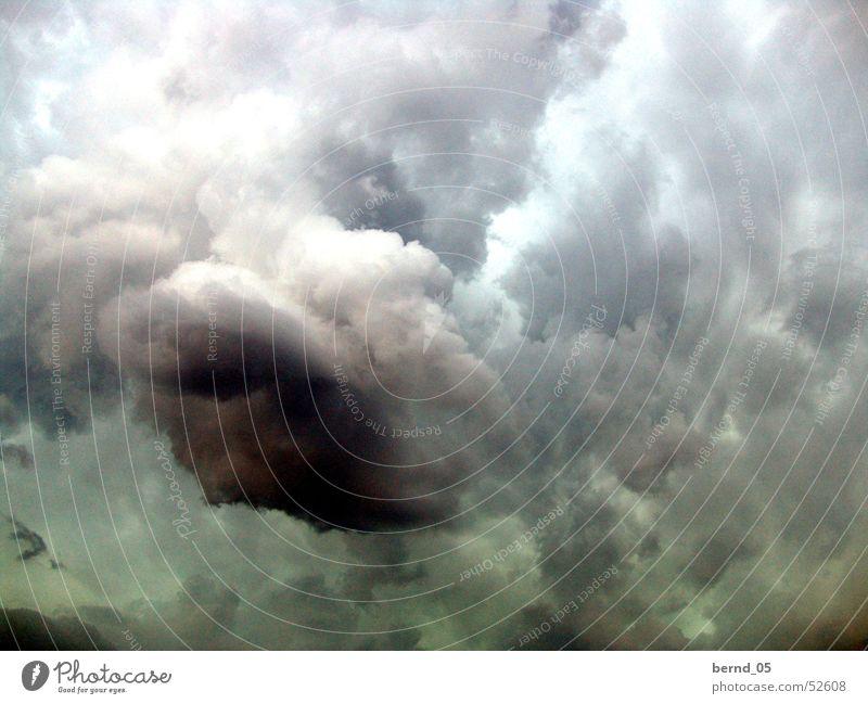 Unwetter Wolken Regen Landschaft Wetter Gewitter