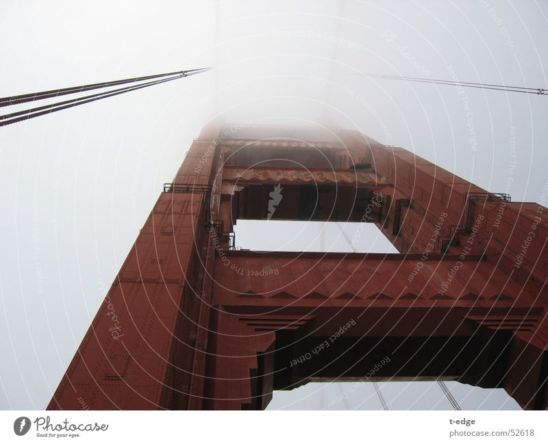 Foggy day in SF Nebel Brücke USA Kalifornien San Francisco Golden Gate Bridge