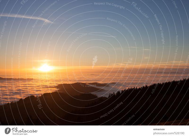 An der Wolkenküste Himmel Natur Ferien & Urlaub & Reisen blau Wasser Sonne Landschaft Wald Berge u. Gebirge gelb Küste Wetter Luft Nebel Ausflug