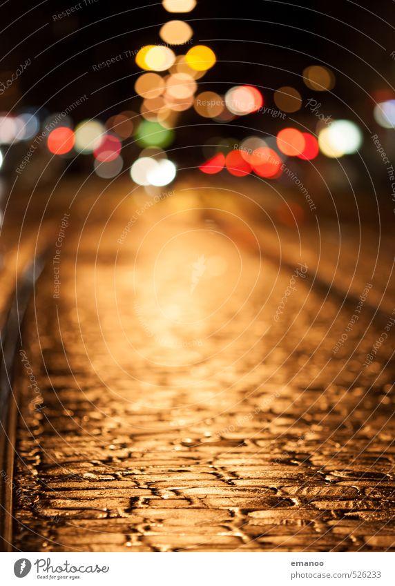 city night lights Ferien & Urlaub & Reisen Städtereise Stadt Altstadt Menschenleer Verkehr Autofahren Straße Wege & Pfade Fahrzeug Schienenverkehr Bahnfahren