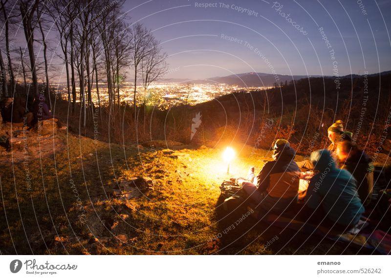 warum nachts? Lifestyle Stil Freude Freizeit & Hobby Ferien & Urlaub & Reisen Ausflug Abenteuer Freiheit Expedition Camping Winter wandern Mensch Frau