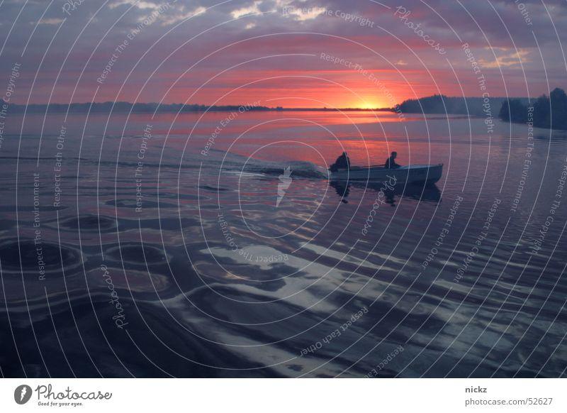sunrise Himmel Sommer Wasserfahrzeug water boat river sky onnenaufgang Fluss volga russia
