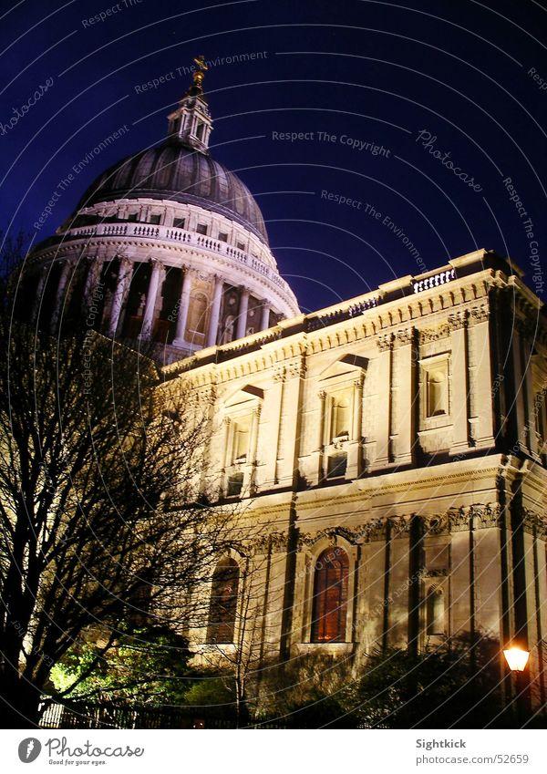 St. Pauls 2 St. Pauls Cathedrale London England Religion & Glaube Gebet Kuppeldach Licht Nacht Gebäude Kathedrale Abend