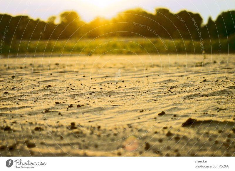 sandwüste Strand Sonnenuntergang Sand Wüste