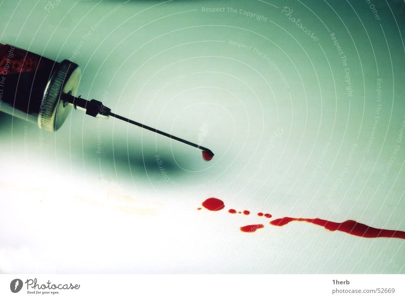 spritzblut Spritze Blut Fleck