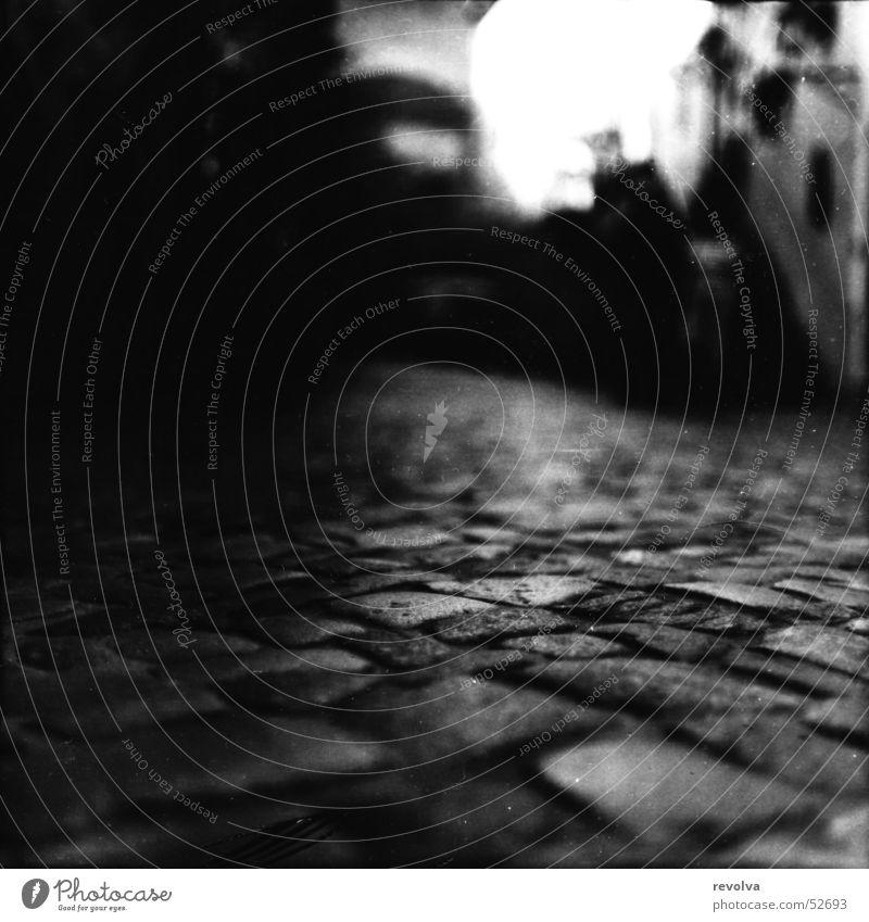 Dunkel in Meißen Stadt ruhig Haus Straße dunkel Herbst Gebäude Dresden Geschirr Straßenbelag Pflastersteine Gasse Altbau Notarzt Antiquitätenhändler