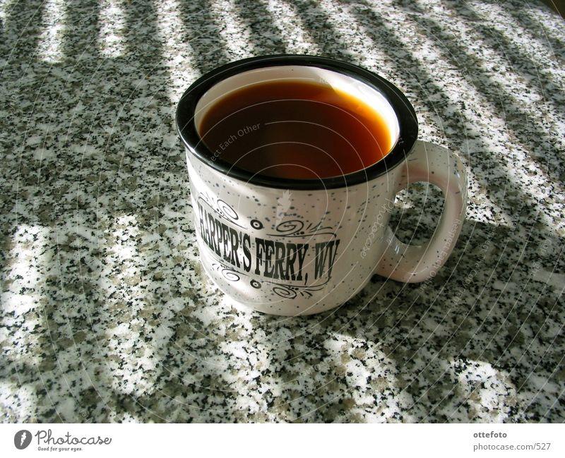 Sunday Morning Sonne Tisch Dinge Becher Möbel Jalousie Mahlzeit Schutz