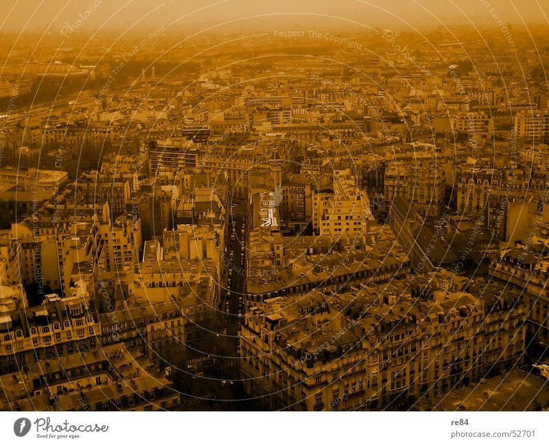Paris, nicht Hilton, das Labyrinth Stadt Haus Straße orange Wohnung Verkehr Fluss Baustelle Paris Frankreich Stress Etage Reihe Jahrmarkt Bauwerk