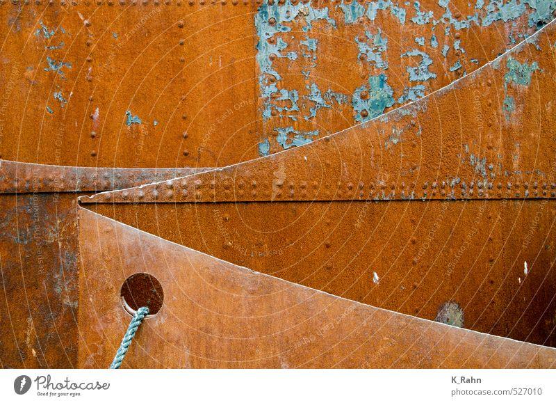 Stahl Kreuzfahrt Handwerker Industrie Kunst Schifffahrt Passagierschiff Dampfschiff Containerschiff Segelschiff Hafen Seil Rost alt braun Kraft kalt Schutz